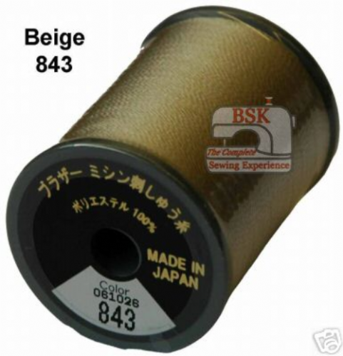 Brother Embroidery machine Thread Polyester Beige A817.843
